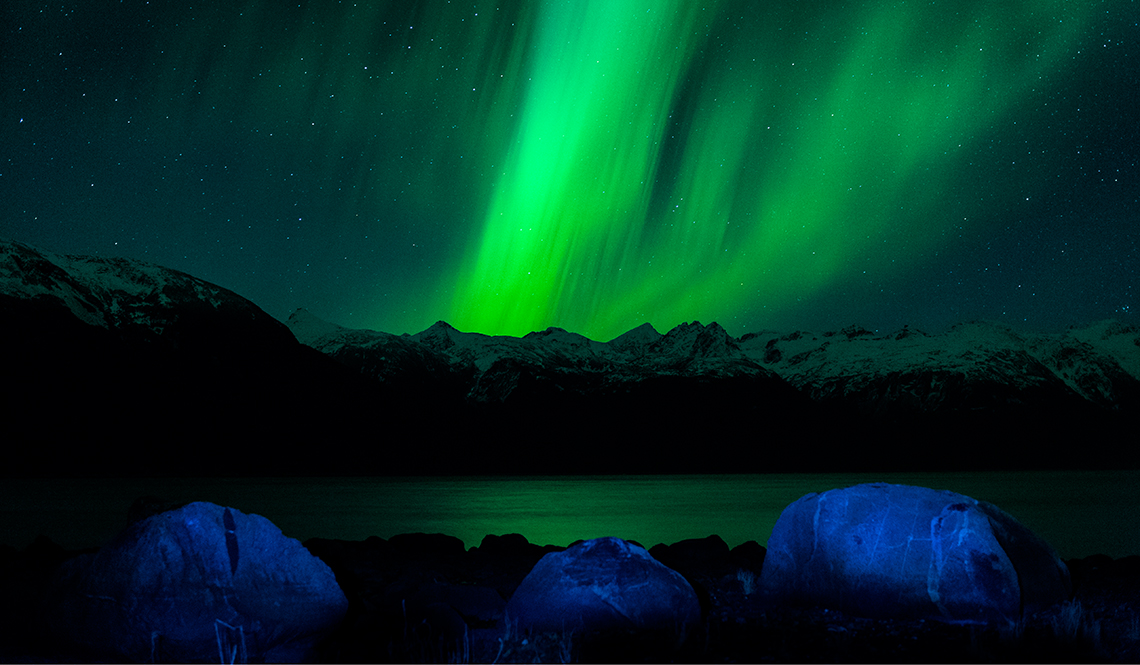 Aurora borealis over Haines – spectacular, spiritual and other-worldly