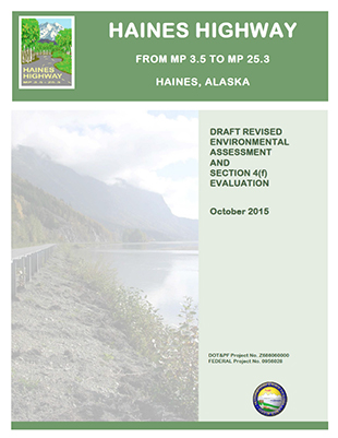 Haines Highway revised environmental assessment cover